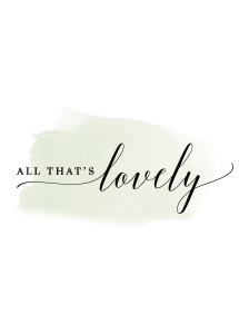 All That's Lovely, Wedding invitations & Paper-goods logo